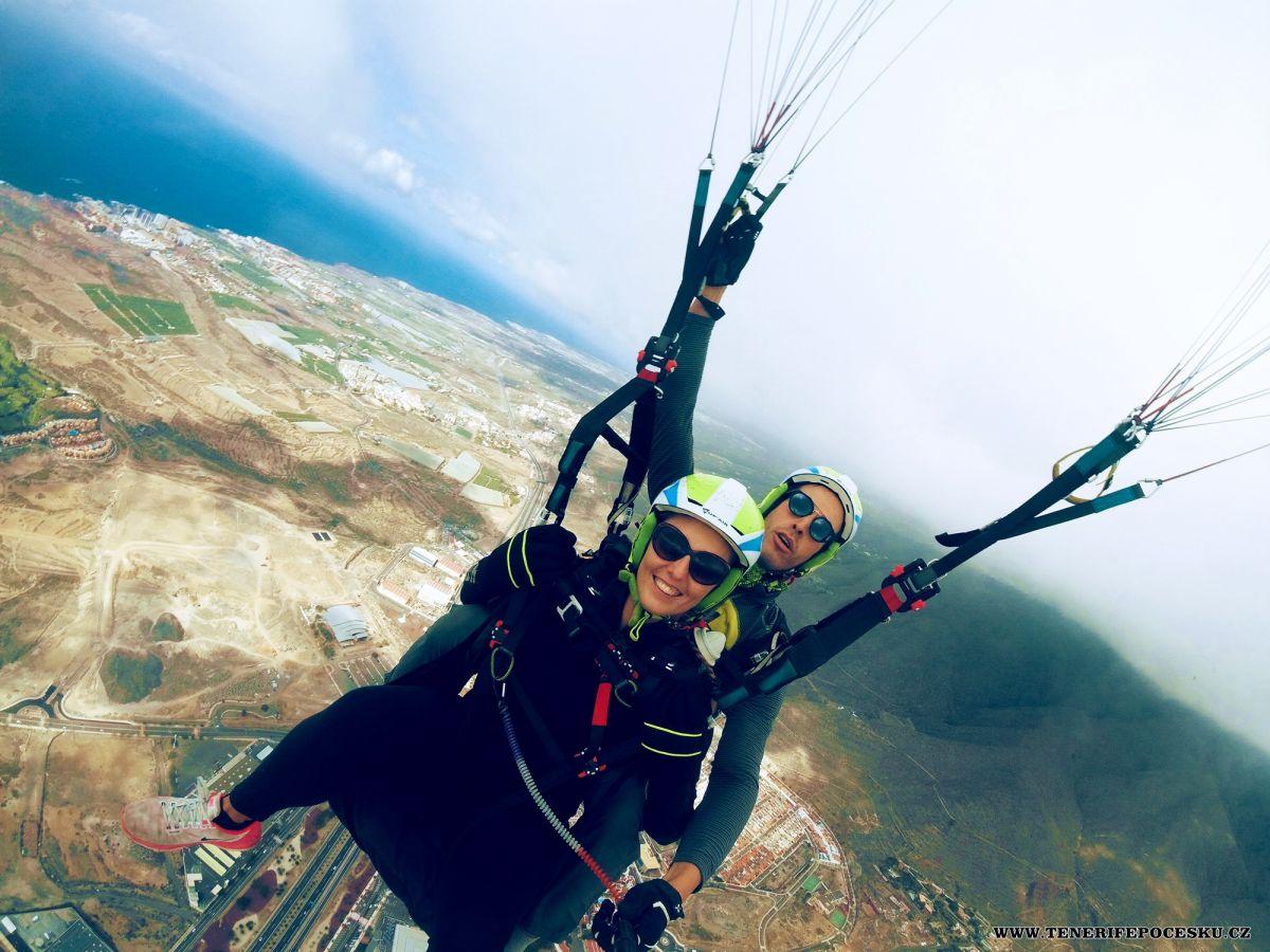 Paragliding gold flight Teide